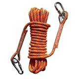 Outdoor Static Rock Climbing Rope,10 mm(3/8 in) Diameter, High Strength Cord Safety Rope 10M(32ft) 20M(64ft) Optional
