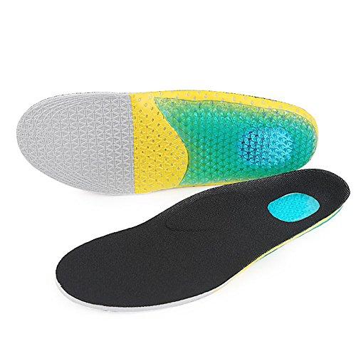 Boowhol-Augmentez Les Semelles pour Les Hommes et Les Femmes 1.7-3.6cm Sport Invisible Hauteur Hausse Semelle Absorption des Chocs Pad Complet Confort Doux (2 Paires) (L(40-46 EU))