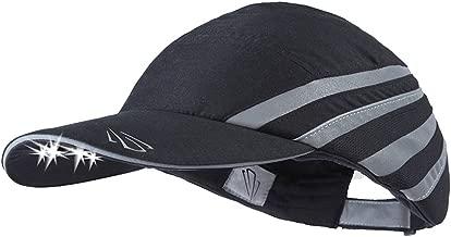 POWERCAP LED Men's Running Hat 25/75 Ultra-Bright Hands Free Lighted Battery Powered Headlamp – 3 Panel