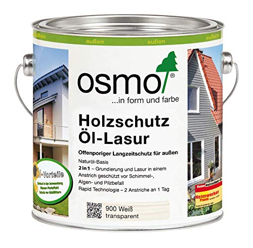 Osmo Holzschutz Öl-Lasur Weiß 2,50 l - 12100024