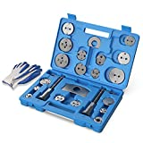 MOSTPLUS Universal Disc Brake Caliper Wind Back Tool and Piston Compression Sets-22 Pieces (Blue)