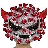 (Muu3) ハロウィン コスプレ ウイルス マスク ウイルス ホラー フェイスマスク お面 仮装 (バイキン)