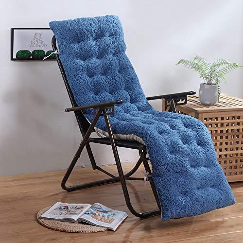 BANNAB High Back Chair Cushion,patio Chair Pads Lounger Patio Cushion Seat/back Cushion,non-slip Lamb Velvet Thickened Cushion,armchair Chaise Lounge Rocking Chair Chair Cushion No Chair Blue 61x19in