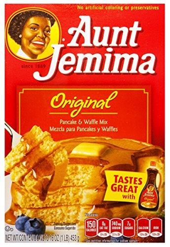 Aunt Jemima Pancake & waffle mix original preparado para panqueques 453g