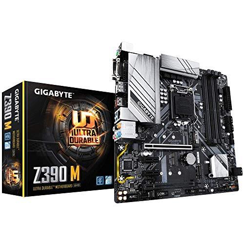 Gigabyte Z390 M Sockel 1151/Z390 DDR4-Hauptplatine, Schwarz