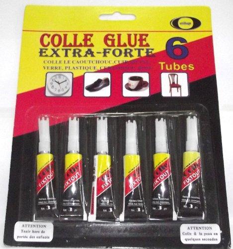 SET DE 6 TUBES DE SUPER GLUE COLLE FORTE MULTI USAGE BRICOLAGE