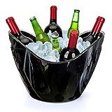 Yobansa 8L Portaghiaccio,Secchiello per Il Ghiaccio,Secchio di Ghiaccio,Secchiello ghiacci, Secchiello per Champagne,Secchiello per Il Ghiaccio Grande (Black 01)