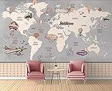 Pared Papel 3D Papel Pintado Murales Mapa Del Mundo Dibujado