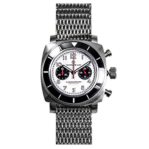 Tempore Lux V One Chronograph 04 White - Milanese Bracelet + Free Rubber...
