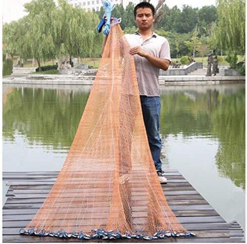 2,4M-7,2M Fischernetz USA Style Cast Network Mit Platine und ohne Platine Sports Hand Throw Fischernetz Small Mesh Cast Net, Eine 480 cm große Stahlplatine, China