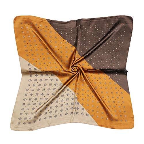 QYX Seidentuch Damen Seide Leicht Seidenschal Bandana Halstuch Kopftuch Vierecktuch Schal Tuch Geschenk für Frauen 70 x 70 cm