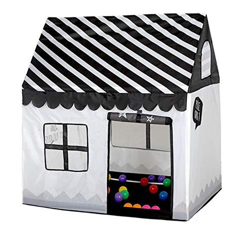 SXPC Tienda de campaña para niños, Juguete portátil, Plegable, Piscina, Piscina, Interior, Exterior, casa de simulación, Tienda en Blanco y Negro, Regalos, Juguetes