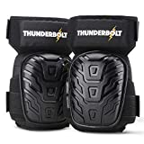 Knee Pads for Work by Thunderbolt for Construction, Flooring, Gardening, Cleaning with Double Gel Cushion and Anti-Slip Straps