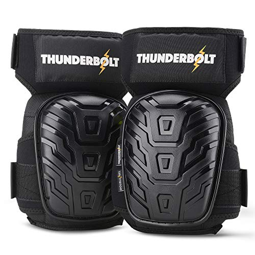 Knee Pads for Work by Thunderbolt for Construction, Flooring, Gardening, Cleaning...