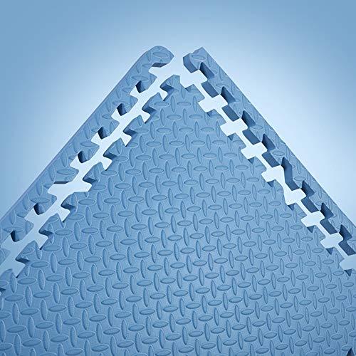 Buy GHGMM Rug Crawling Mat Play Mat, Non-Slip Foam Splice Child Crawling mat, Household Living Room Bedroom Moisture Proof Floor mat,Bluea,4pcs
