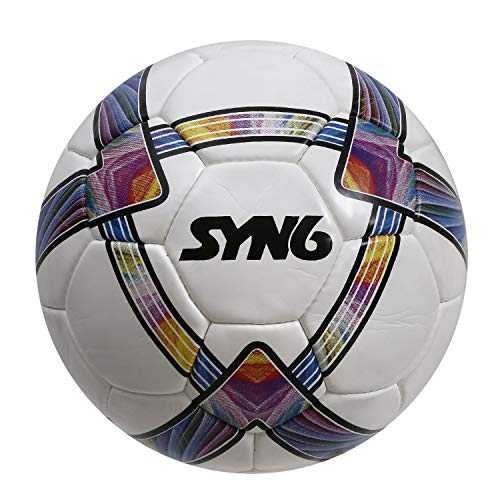 Syn6 Match Football, Size 5, Built With Microfiber Pu And Laminated With Exclusive 5 Layers Of Polyester Cotton