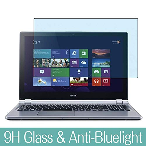 Synvy Anti Blue Light Tempered Glass Screen Protector for ACER Aspire M5-583P 15.6' Visible Area 9H Protective Screen Film Protectors (Not Full Coverage)