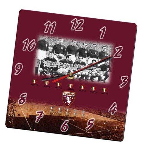 Giemme Werbeartikel - Wanduhr aus Plexiglas 24 x 24 cm Stier Torino Offizielles Produkt 2Mod