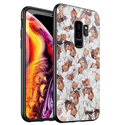 Phone Case for Samsung Galaxy S10 Plus,Tempered Glass Back Cover for Scratch and Fall Resistance DT-53 Kimoji Kim Kardashian North Kylie Jenner