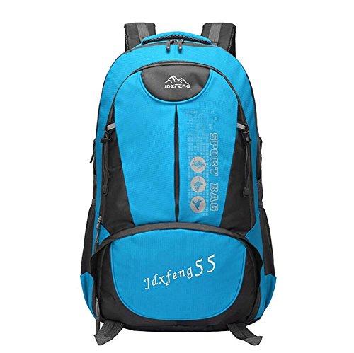 GAOHAILONG Hommes 30-40L Alpinisme Bag Outdoor Walking Et Femmes Sac à Dos équitation Un Voyage d'épaule, Blue