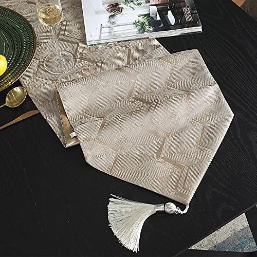 AAPOY Tischläufer Mit Quasten 1 Stücke Tischläufer Tee Tischdecke Bett Flagge Braun Hotel Haushaltswaren 33 * 240Cm
