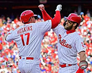 "Rhys Hoskins & Bryce Harper Phillies 8"" x 10"" Baseball Photo"