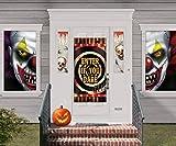 Amscan 670183 - Deko-Set Creepy Carnevil Horror Clowns, aus