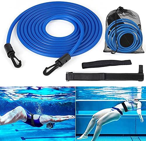 Cinturón de entrenamiento de natación, cuerda de entrenamiento de natación portátil, bandas de resistencia para entrenamiento de resistencia estacionaria, Suitalbe para adultos, Pro, uso aficionado