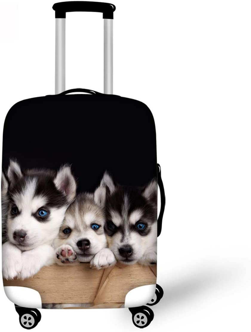 Travel Luggage Cover LedBack Challenge the lowest price Animals Purchase Hasky Su Print Dog