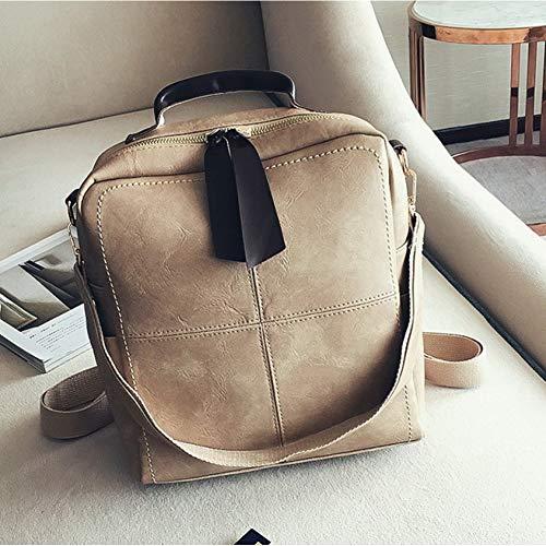 KLJDC Taschen Handtaschen Schultertaschen Leder Rucksäcke Weibliche Patchwork Umhängetaschen Für...