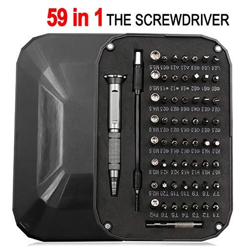 59 en 1 pequeño mini destornillador de precisión set reloj joyería herramienta de reparación electrónica-Negro