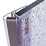 STEIGNER Magnetduschdichtung, 201cm, Glasstärke 6/7/ 8mm, Ersatzdichtung für Duschtür, UKM04, 1 Stück