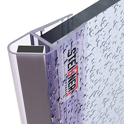 STEIGNER Magnetduschdichtung, 201cm, Glasstärke 3,5/4/ 5mm, Ersatzdichtung für Duschtür, UKM03, 1 Stück