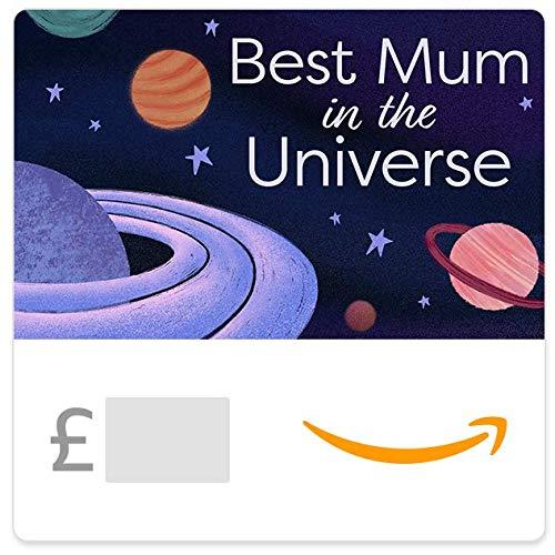 Mother's Day Best Mum in the Universe - Amazon.co.uk eGift Voucher