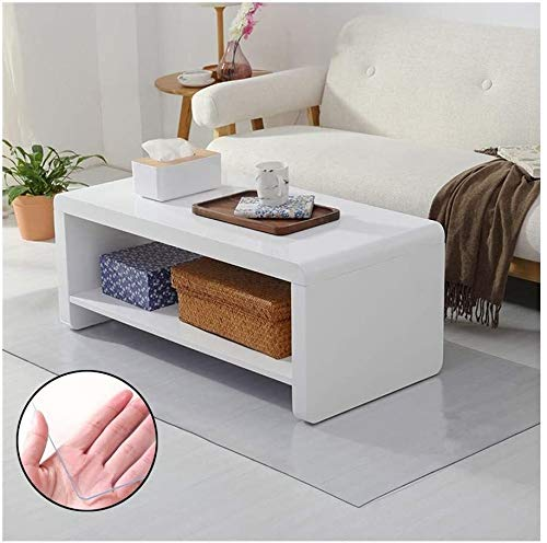 ZWR Tischschutz Folie Folienschutz Tischbedeckung Farblos Transparent Schutzmatte Tischdecke (Color : 2.0mm, Size : 60cm×90cm)