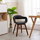 Mingone essstühle armlehnstuhl esstischstühle esszimmer Stuhl Holz esstisch nussbaum bequemer Stuhl esszimmerstühle mit armlehne (Schwarz)