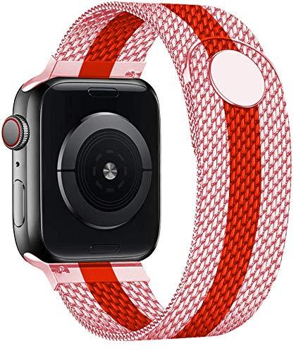 TKPOLD 2021, Banda de Bucle Milánés para la Correa de Reloj de Apple 44mm 40 mm 38mm 42mm Cinturón de Metal Pulsera de Acero Inoxidable Iwatch Series 5 4 3 SE 6 Correa