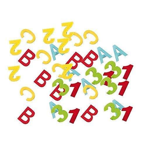 Lively Moments Felt - Confettis ABC & 123 pour scolarisation 24 pièces/rentrée Scolaire/décoration de Table