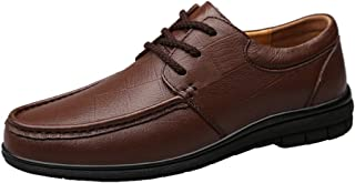 Tufanyu メンズファッションオックスフォードカジュアルシンプルレースフォーマルシューズの中の柔軟なロートップウィンターフリース(従来型オプション) 丈夫 (Color : 褐色, サイズ : 24 CM)