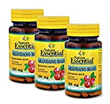 NATURE ESSENTIAL | Arándano Rojo 5000 mg | Extracto Seco 200 mg | Gran Efecto Antioxidante y con Vitamina C | Ayuda a Proteger Frente a Enfermedades Cardiacas y Diabetes | 60 Cápsulas (Pack 3 unid.)