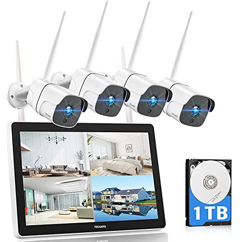 TOGUARD 1080P Wireless Security Camera System with...