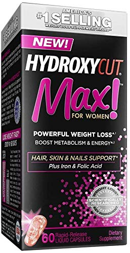 Weight Loss Pills for Women | Hydroxycut Max | Weight Loss Supplement Pills with Biotin | Hair Nails...