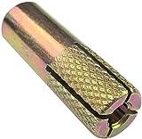 AERZETIX - Juego de 50 - Tacos de anclaje Ø8x30mm - taco de expansión - anclaje metálico para lona de protección - anclaje de golpe - hormigón/ladrillo/piedra - acero latón - C46801