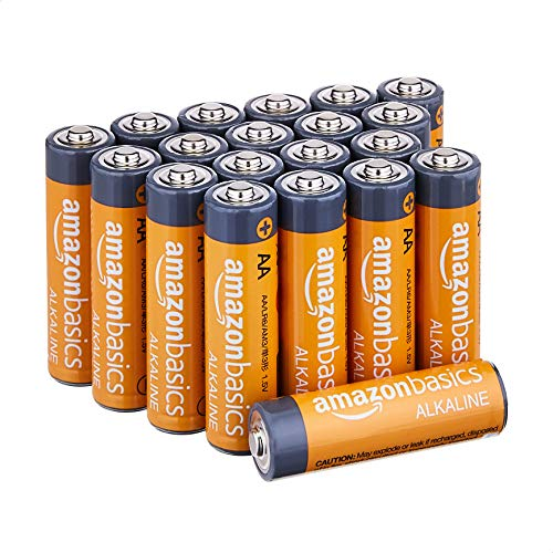 Amazon Basics AA 1.5 Volt Performance Alkaline Batteries - Pack of 20