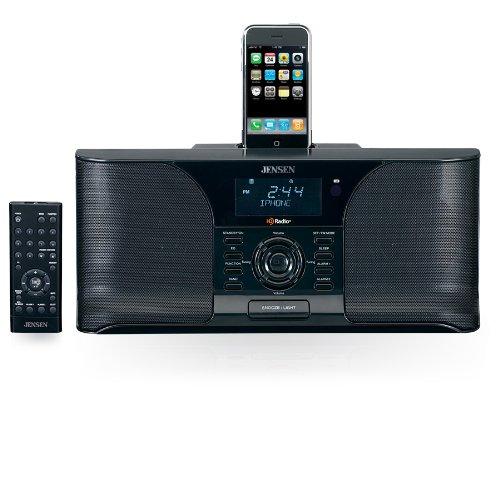 Jensen JIMS-525i Docking Digital HD Radio System/Alarm Clock for iPod (Black)