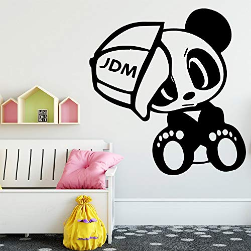 Fun Panda Wandkunst Aufkleber Wandkunst Aufkleber Wandbilder Baby Kinderzimmer Dekoration Wandtattoos Haus Dekoration Zubehör 30x30cm