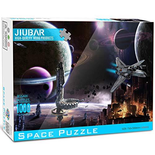 Space Puzzle de 1000 Piezas para Adultos,Puzzle Creativo, Ilustraciones de Juegos de Rompecabezas para Adultos, 29,6 x 19,6 Pulgadas