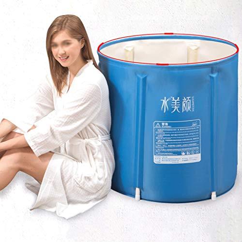 CHICTI Draagbare Kunststof Badkuip, Opvouwbare Spa Badkuip Voor Volwassenen Vrijstaand Badkuip Niet-Opblaasbaar IJsbad