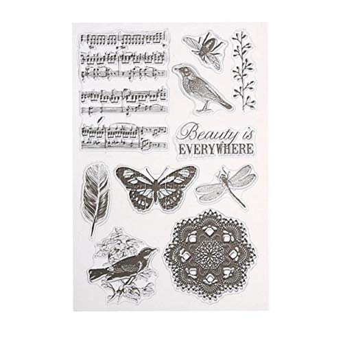 LAVALINK Claro Sello De Goma Sello De Silicona Transparente para Manualidades DIY De Scrapbooking Álbum De Fotos Decorativas