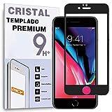 REY Protector de Pantalla Curvo para iPhone 6 / iPhone 6S, Negro, Cristal Vidrio Templado Premium, 3D / 4D / 5D